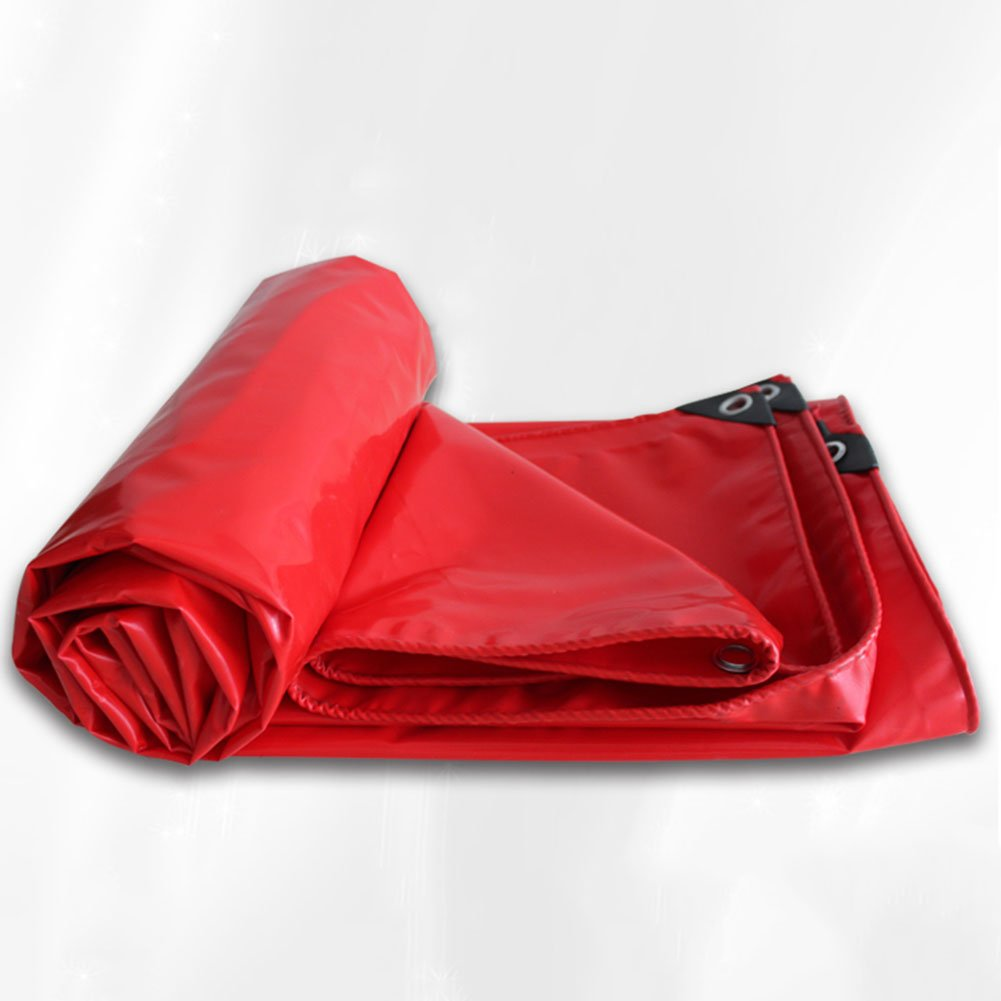 Yxsd Outdoor Thicker Tarpaulin, Waterproof Sun Shade, Suitable for Large Equipment Cover, Red -0.35mm (Size : 2x2m)