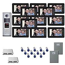 Building Video Intercom 12 seven inch color monitor door panel kit
