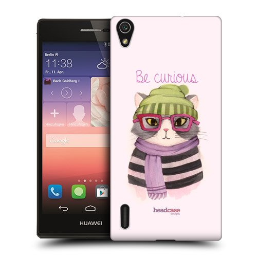 Head Case Designs Curious Hipster Animals in Watercolour Protective Snap-on Hard Back Case Cover for Huawei Ascend P7 LTE P7 Dual SIM LTE