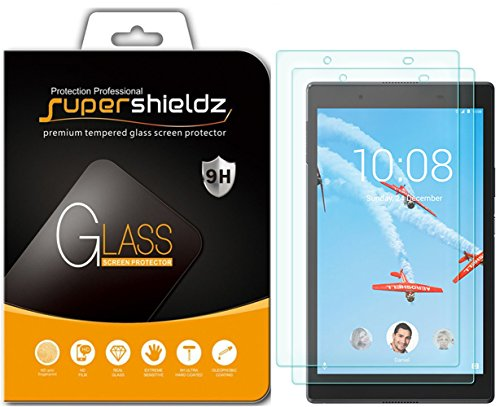(2 Pack) Supershieldz for Lenovo Tab 4 8 (8 inch) (Tempered Glass) Screen Protector, Anti Scratch, Bubble Free