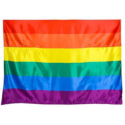 Rainbow Gay Pride Satin Rainbow Flag Cape - Adult Costume