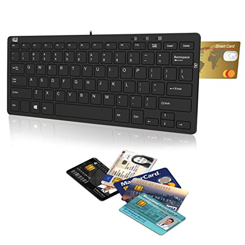 Adesso SlimTouch 510R Mini Keyboard with Smart Card Reader a