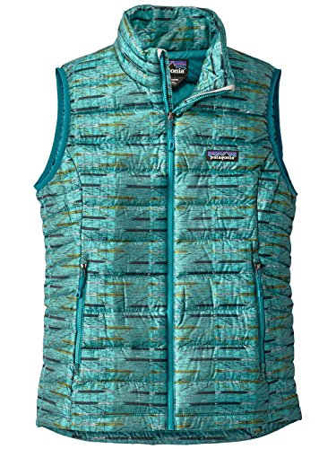 Patagonia Women's Down Sweater Vest (Large, Elwha Ikat Small: Strait Blue) (Patagonia Womens Down Vest Apparel)