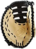 Louisville Slugger Pro Flare First Base Mitt, Cream/Black, Left Hand Throw