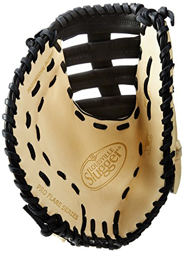 Louisville Slugger Pro Flare First Base Mitt, Cream/Black, Left Hand Throw by Louisville Slugger