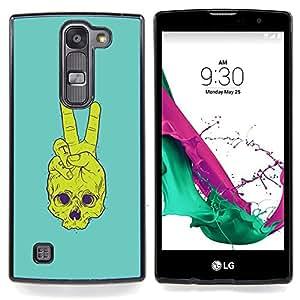 - Peace Skull - - Cubierta del caso de impacto con el patr??n Art Designs FOR LG Volt 2 / LG G4 Mini (G4c) Queen Pattern