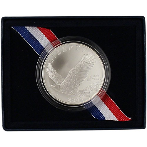 Coins 2008 Bald Eagle (2008 P US Commemorative BU Silver Dollar Bald Eagle $1 OGP US Mint)
