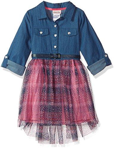 Little Lass Girls 1 Pc High-Low Plaid Dress