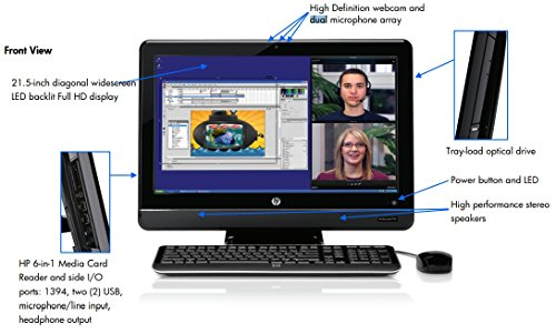 HP Pro 3420 All In One Business Computer PC (Intel Pentium G840