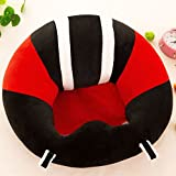 pinnacleT1 Baby Cartoon Animal Plush Sofa Seat Soft Bean Bag Chair Seat Cartoon Kids Chair for Christmas/Children's Day Gift (Red)