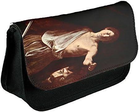 Caravaggio The Head Of Medusa Tondo, Negro Escuela Niños Sublimación Alta calidad Poliéster Estuche de lápices con Diseño Colorido. 21x13 cm.: Amazon.es: Oficina y papelería