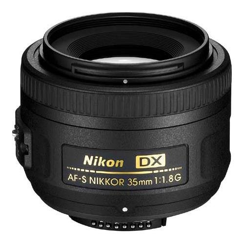 Nikon 35mm f/1.8G AF-S DX AF NIKKOR Lens - Nikon U.S.A. Warranty - Accessory Bundle with 52mm Filter Kit, Lens Cap Leash, Professional Lens Cleaning Kit by Nikon