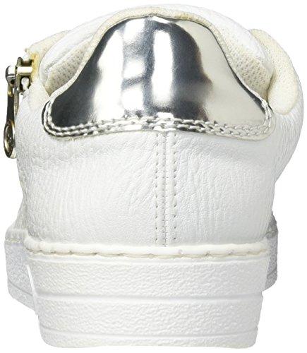 Bianco Ginnastica Scarpe argento weiss Basse Da Rieker L1116 Donna 81 qAYaHH
