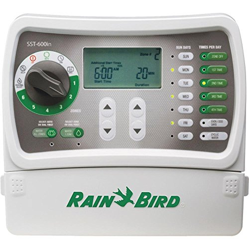 Rain Bird SST600I Simple To Set Indoor Timer, 6-Zone (Discontinued by Manufacturer; replaced by SST600IN) ()