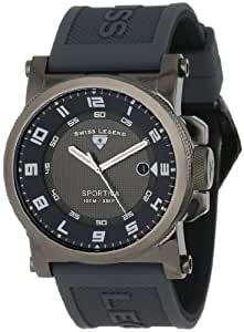 Swiss Legend Men's 40030-GM-014 Sportiva Grey Textured Dial Grey Silicone Watch
