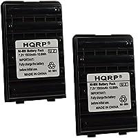 HQRP 2-pack 1500mAh Battery for Yaesu / Vertex Standard VX-160, VX-160U, VX-160V + HQRP Coaster
