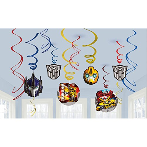 (Transformers Value Pack Foil Swirl Decorations, Party)