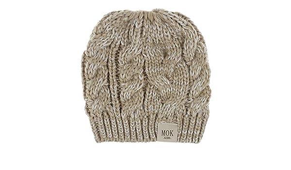 RISTHY Niños Niñas Moda Casual Crochet Sombreros de Punto Sombrero ...