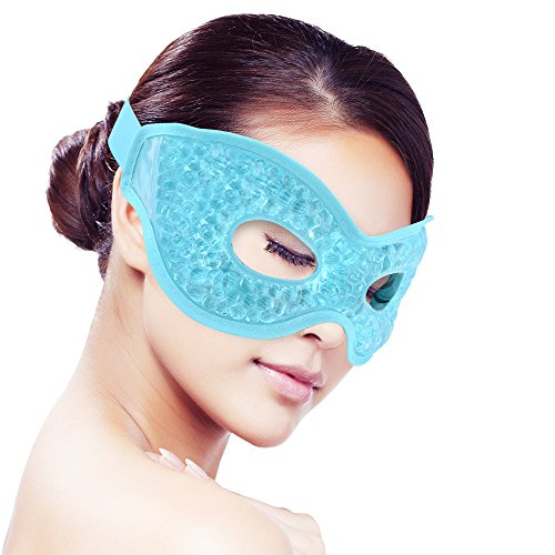 - Ice Eye Mask for Woman Man Sleeping, Reusable ice Mask Hot/cold Therapy for Puffy Eyes,Dark Circles,Dry Eyes,Relaxing Sleep,Migraines, Headaches,Stress Relief [Blue]