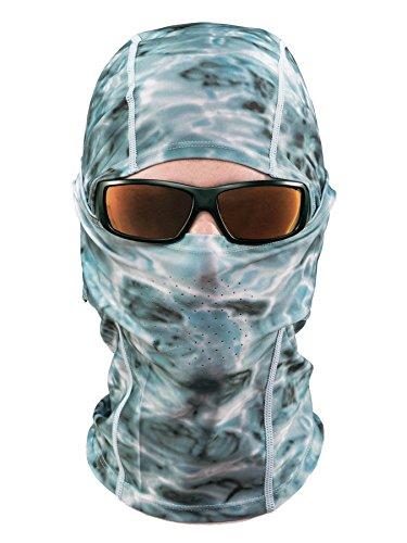 Aqua Design: Cool Weather Mens Face Mask UPF50+ Sun Wind Helmet Liner Balaclava: Aqua Sky by Aqua Design (Image #1)