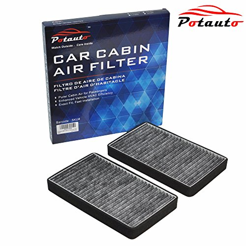 POTAUTO MAP 2001C Heavy Activated Carbon Car Cabin Air Filter Replacement compatible with CADILLAC, CHEVROLET, GMC