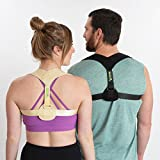 Posture Corrector for Women Men by Vigor Wellness - Unnoticeable Upper Back Brace Bra Device - Discreet Under Clothes Helps Bad Kyphosis - for Kids Girls Boys Adults XS-XXL - Clavicle Medical Support