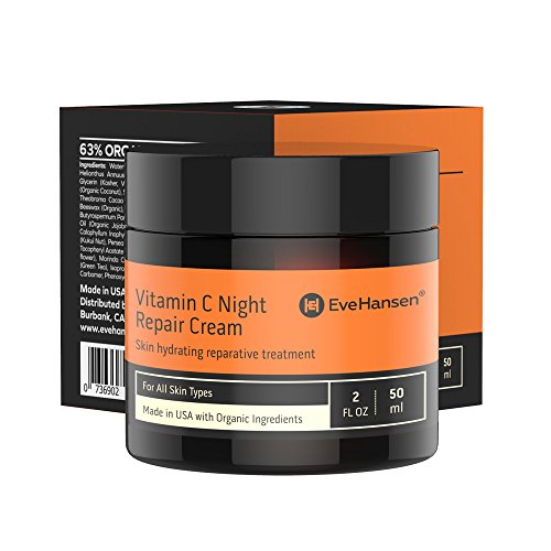Vitamin C Night Cream For Skin Repair: Rejuvenating Face Moisturizer is a Powerhouse Anti Aging Wrinkle Cream, Scar Cream, Skin Tightening Cream, Moisturizing Cream. Rich In Vitamins C, E, B5.