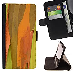 BullDog Case - FOR/Samsung Galaxy Note 4 IV / - / Plant Nature Forrest Flower 50 /- Monedero de cuero de la PU Llevar cubierta de la caja con el ID Credit Card Slots Flip funda de cuer
