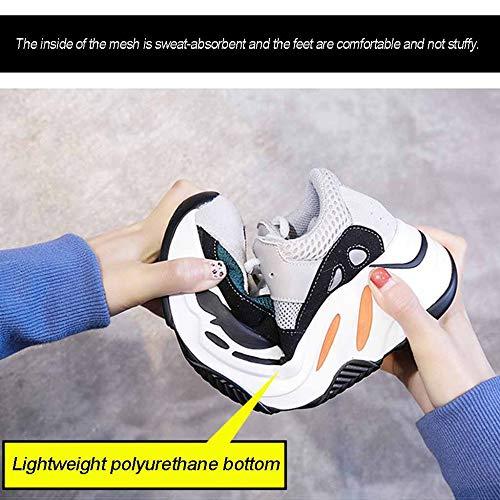 Gruesa Amortiguación Brown Street Mujer Damas Jogging Inferior Para Plataforma Calzado Zapatillas Casual Zapatos De High Miss Li Atlético gZwTvH