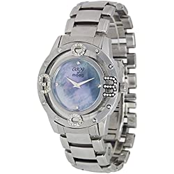 Moog Paris - 0309 - Women / Men Watch with blue mother of pearl dial, silver strap in stainless steel - - Made in France - M44764-001
