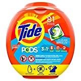Tide PODS Laundry Detergent Liquid Pacs, Clean Breeze Scent, HE Compatible, 81 Count (Packaging May Vary)
