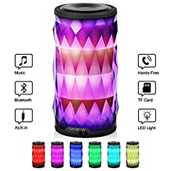 【Key Point】★2000mAh★10hours play★2hours charge★LED Color Changing★Φ3.0X H5.7inch★15oz★TF Card★Flash Disk★ AUX-in★ Bluetooth4.2★Handsfree★TWS★ACFFeature Detials:  ♫ Rechargeable lithium 2000mAh battery, support up to 8 hours music play with t...