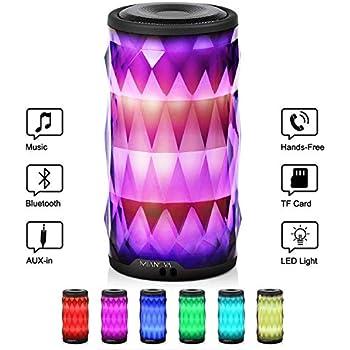 Amazon com: Night Light Bluetooth Speaker, Portable Wireless