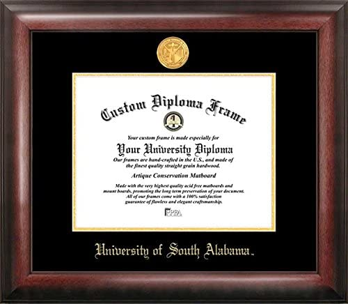 Campus Images AL991GED University of South Alabama Embossed Diploma Frame 8.5 x 11 Gold Multicolor