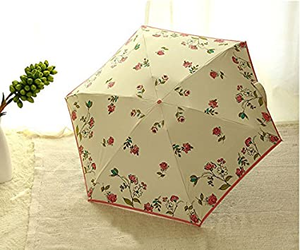 Five-folding Umbrella Girls Hand-painted UV Protection Pencil Mini Women Umbrellas paraguas