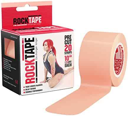 Rocktape Kinesiology Tape for Athletes, Water Resistant, Reduce Pain and Injury Recovery, 180% Elastic Stretch, 16.4 Feet Roll