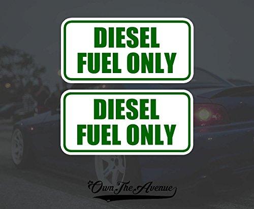 OwnTheAvenue x2 Diesel Fuel Only Sticker Decal Tank Fuel Door Set Pack lot 4