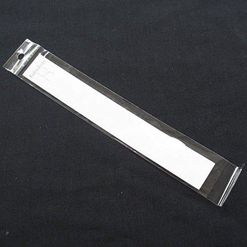 Chenkou Craft 50Set White Bracelet Jewelry Display Hanging Cards W/Self Adhesive Bag 27.5CM