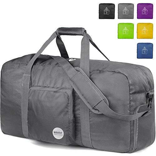 f5de28736ea1 WANDF 16  ~ 32  Foldable Duffle Bag for Travel Gym Sports ...
