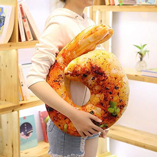 DESY 20cm Fish Pizza Food Snack Shaped Plush Bed 3D Almohada ...