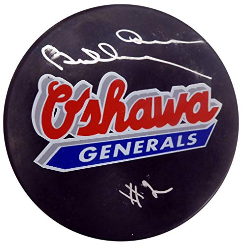 - Bobby Orr Autographed Oshawa Generals Hockey Puck (Smudged) Beckett BAS #F98266