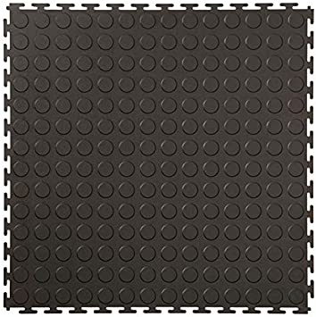 Klickfliesen Vinylfliesen Genoppt Certeo Vinyl Bodenfliesen VE 5 HxBxT 12 x 470 x 470 mm Schwarz