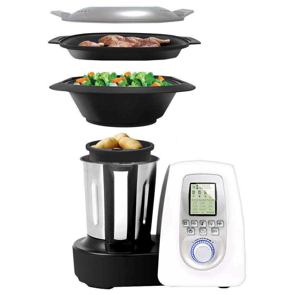 Chef Memory Gridinlux Robot de cocina Multifunciones Jarra de acero inoxidable anti-huellas 19 Programas Sistema de seguridad MaxControl 10 Velocidades