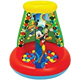 Mickey Mouse Club House Follow Mickey Ball Pit, 1 Inflatable & 15 Sof-Flex Balls, Red/Yellow, 28