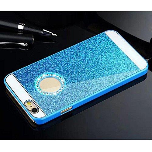 "SODIAL(R) iPhone 6 Plus 5.5"" Kristall Diamant Strass Case Tasche & Huelle (blau)"