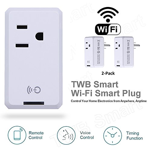 Smart WiFi Outlet Socket, BOSCHENG Wireless Outlet Switches Remote Control WiFi Timing Socket for Household Appliances, Works with Amazon Echo Alexa & Google Assistant (2 PCS) by BOSCHENG (Image #3)