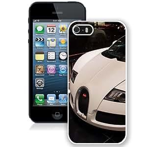 NEW Unique Custom Designed iPhone 5S Phone Case With White Bugatti Veyron_White Phone Case