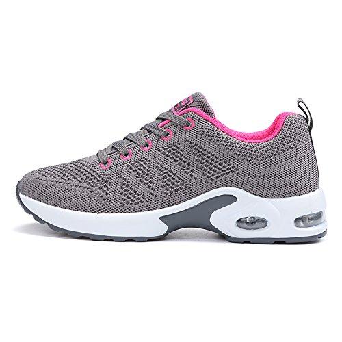 Hasag Zapatos Deportivos Zapatos de Mujer Zapatos Deportivos de Verano nuevos Zapatos Deportivos de Suela Gruesa Dark gray A1