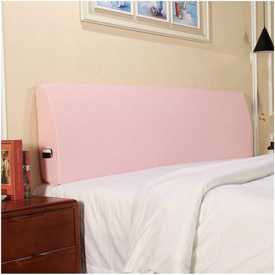Color : A, Size : 120 * 50 * 10cm Cloth Headboard Headrest Bedside Cushion Pads Cover Soft Case Washable Flax No Headboard
