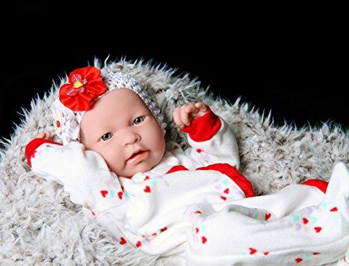 "doll-p Cute Baby Dolls Reborn Berenguer Preemie Soft Vinyl Newborn 17"" inches Realistic for Children party"